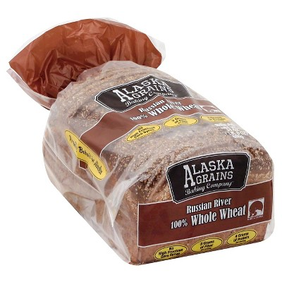 Alaska Grains Russian River 100% Whole Wheat Bread - 24oz