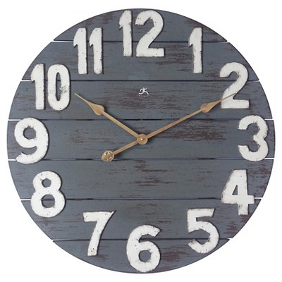Tree House Wall Clock Distressed Blue - Infinity Instruments®