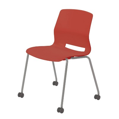 Lola Armless Stack Chair with Casters - Olio Designs