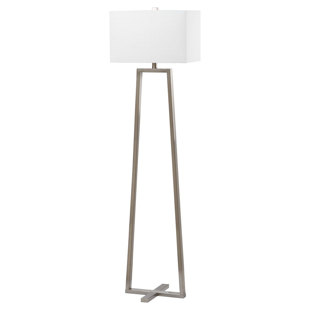 60 Lyell Floor Lamp Nickel (Includes CFL Light Bulb) - Safavieh Coupons