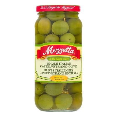 Mezzetta Italian Castelvetrano Whole Green Olives - 10oz