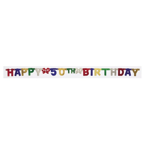 50th Birthday Party Banner - image 1 of 1