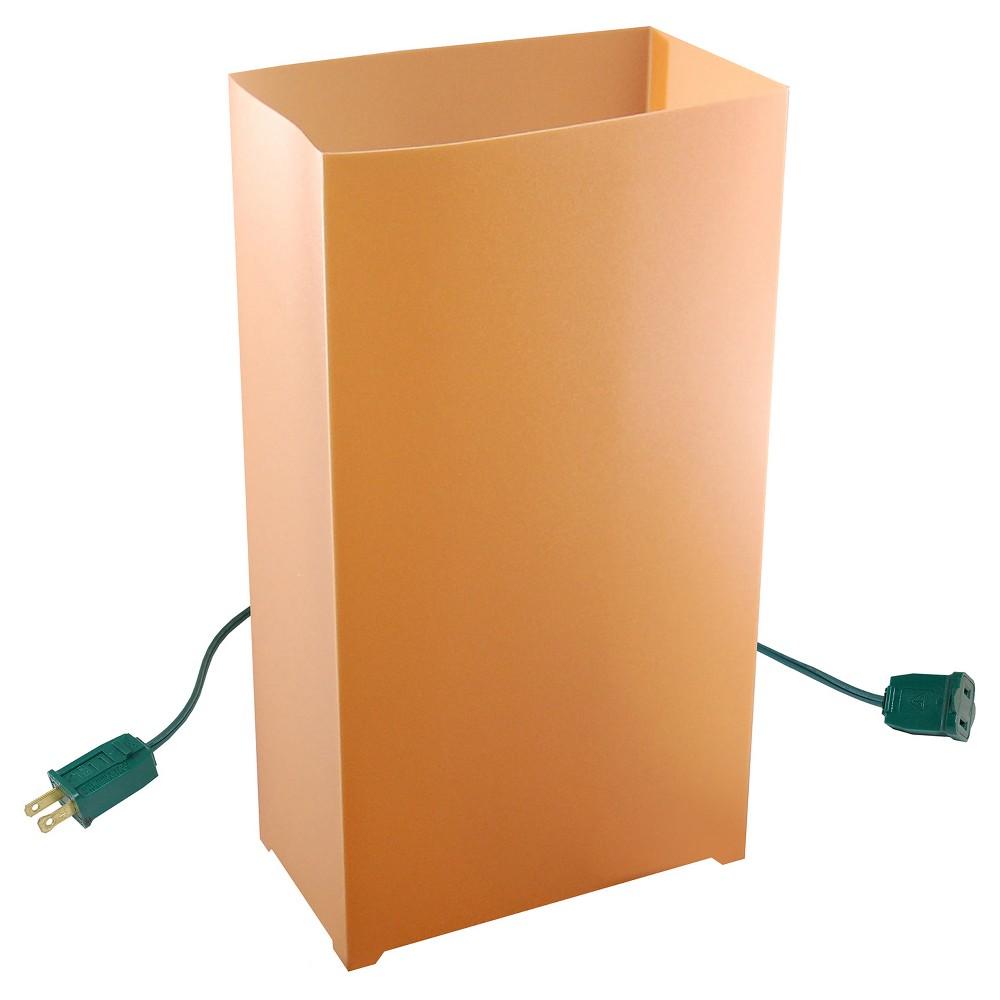 10ct Electric Luminaria Kit - Tan, Brown
