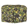Mitch Tufted Round Ottoman Brown Floral - Cloth & Co. - image 2 of 4