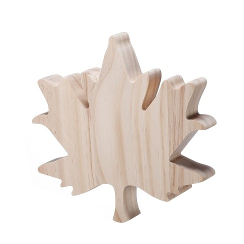 Hand Made Modern Unfinished Craft Maple Leaf - White - image 1 of 1