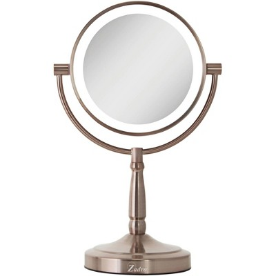 Zadro Cordless Dual-Sided Rose Gold LED Lighted Vanity Mirror