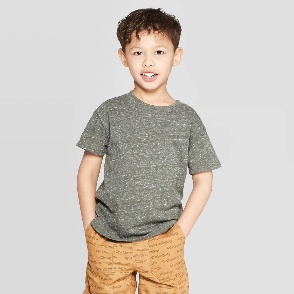 cf2aef5b56 Toddler Boys Specialty Jersey Drop Shoulder T Shirt Cat Jack Olive 4T Green