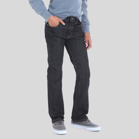 Wrangler® Boys' 5-Pocket Dark Rinse Slim Straight Jeans - Black 16 - image 1 of 6