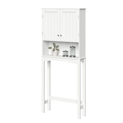 Beadboard Over the Toilet Space Saver Cabinet White - RiverRidge Home