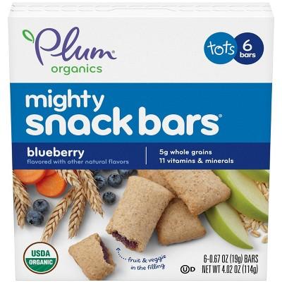 Plum Organics Mighty Snack Bars Blueberry - 6ct/0.67oz Each