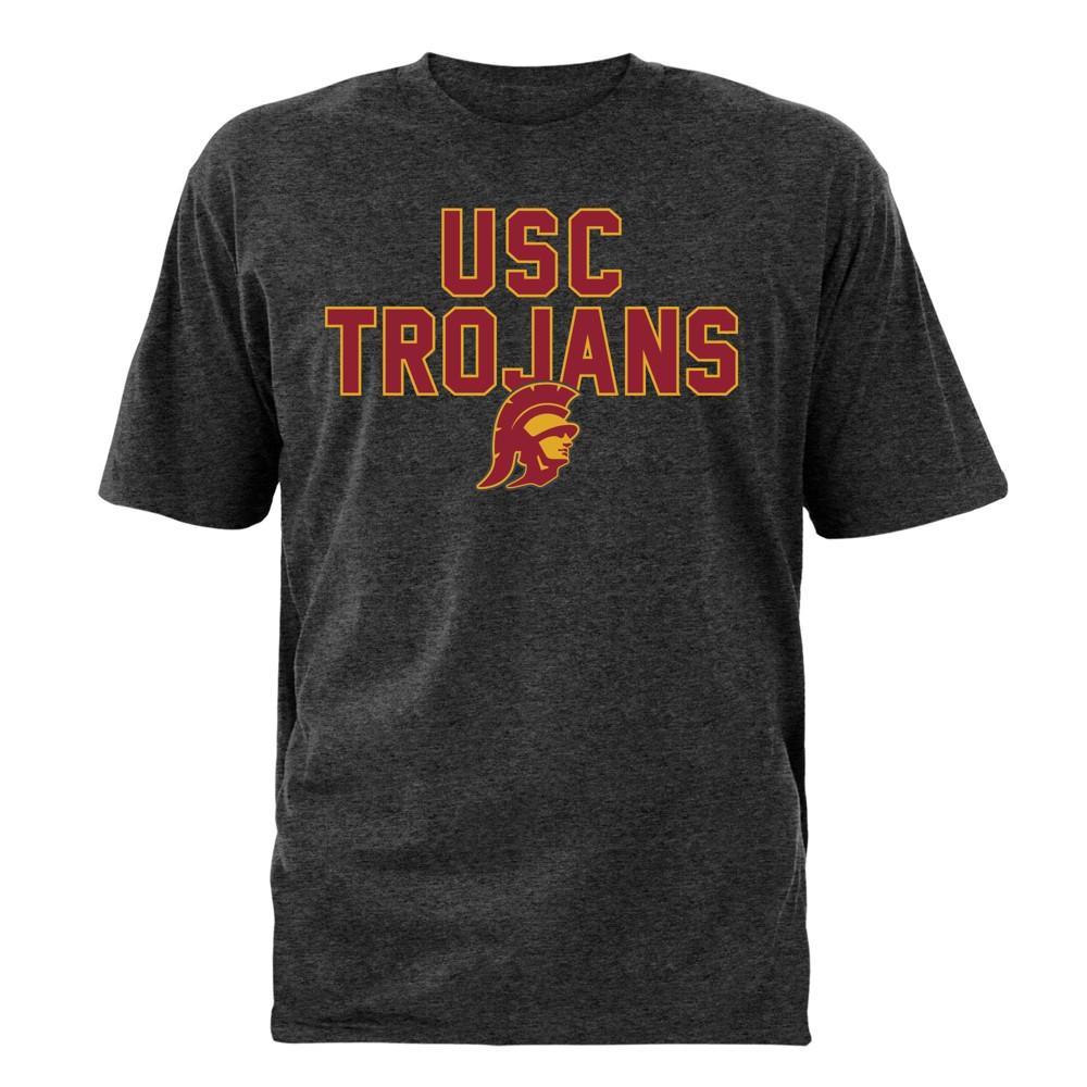 NCAA Men's Bi-Blend T-Shirt Usc Trojans - M, Gray