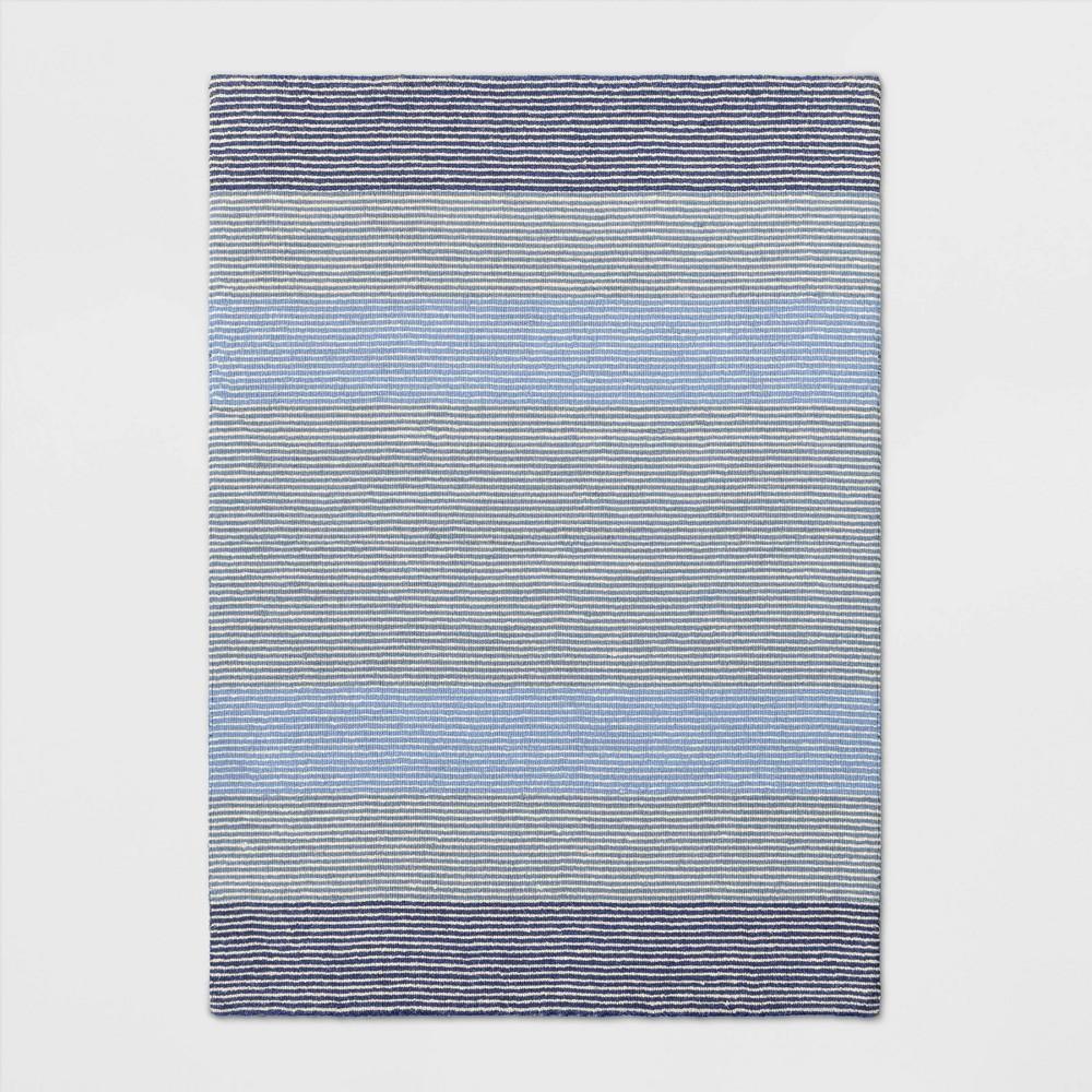 5'X7' Stripe Loomed Area Rug Blue - Threshold