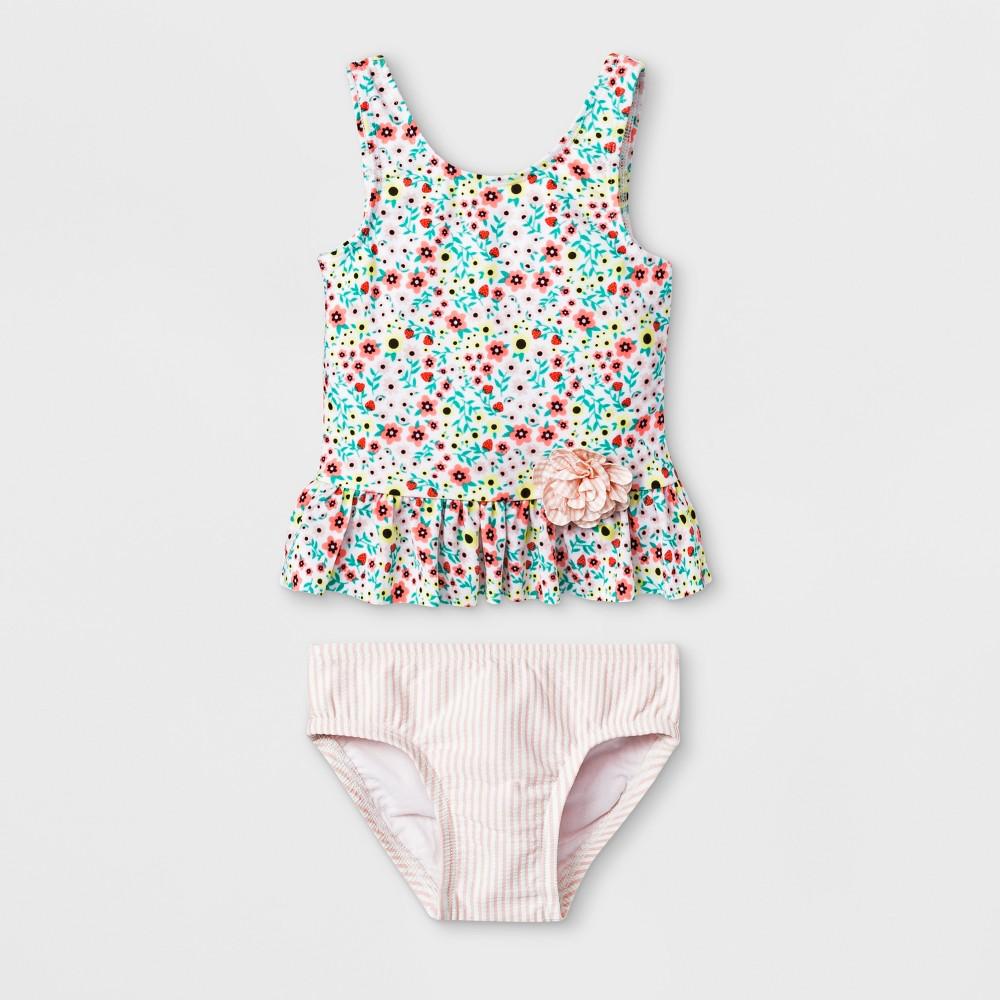 Baby Girls' 2pc Tankini Set - Cat & Jack 9M, Pink