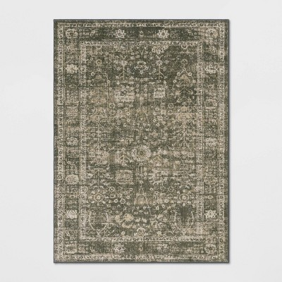 Floral Woven Area Rug Gray - Threshold™