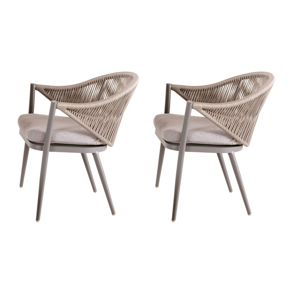Image of 2pk Rope Patio Accent Chai Beige - Nuu Garden