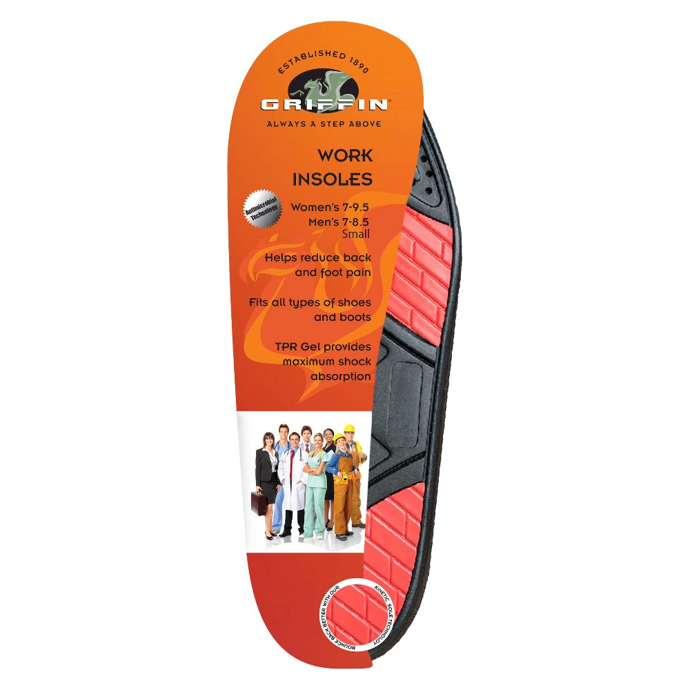 Griffin Footwear Cushions Work Insoles - S, Multi-Colored