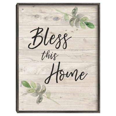 Bless This Home By Amanda Murray Framed Canvas Art Print - Masterpiece Art Gallery