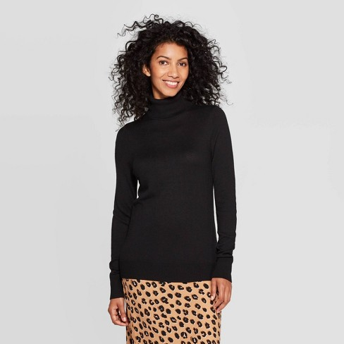 Women's Long Sleeve Rib-Knit Cuff Turtleneck Sweater - A New Day™ - image 1 of 3
