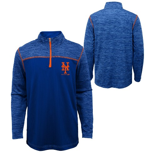 MLB New York Mets Boys' In the Game 1/4 Zip Sweatshirt - image 1 of 3