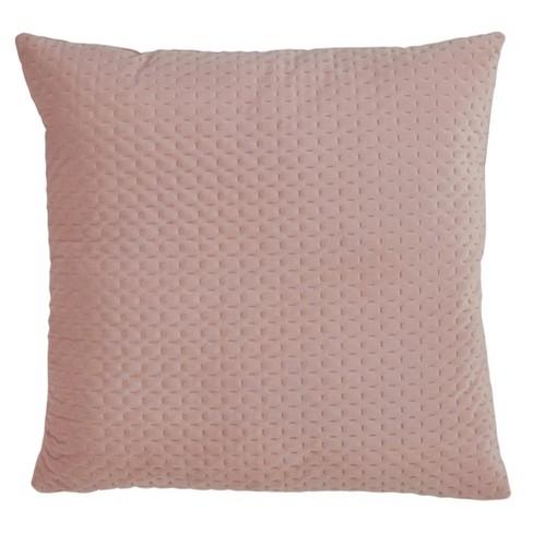 Poly Filled Pinsonic Velvet Pillow Blush - Saro Lifestyle - image 1 of 4