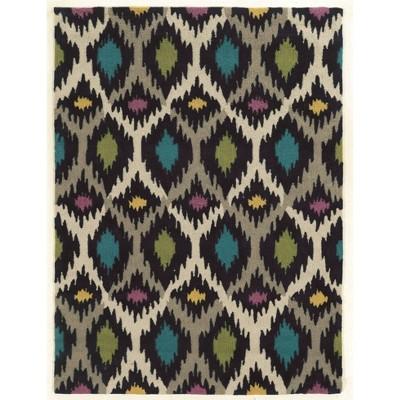 5'x7' Trio Collection Indira Area Rug Gray/Ivory - Linon