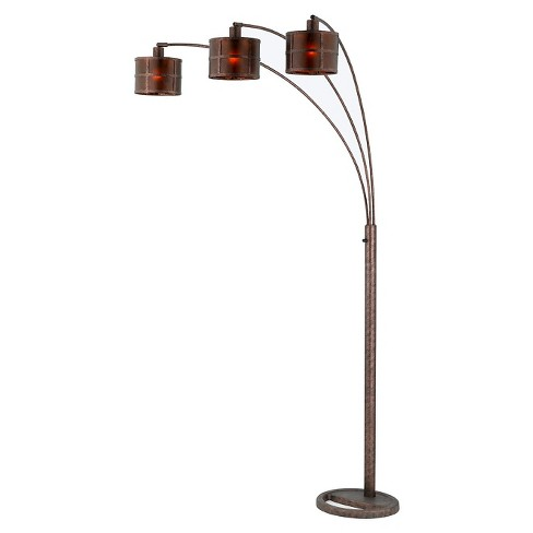 Cal Lighting Mission Metal/mica arc Floor Lamp with Adjustable Arms - image 1 of 1