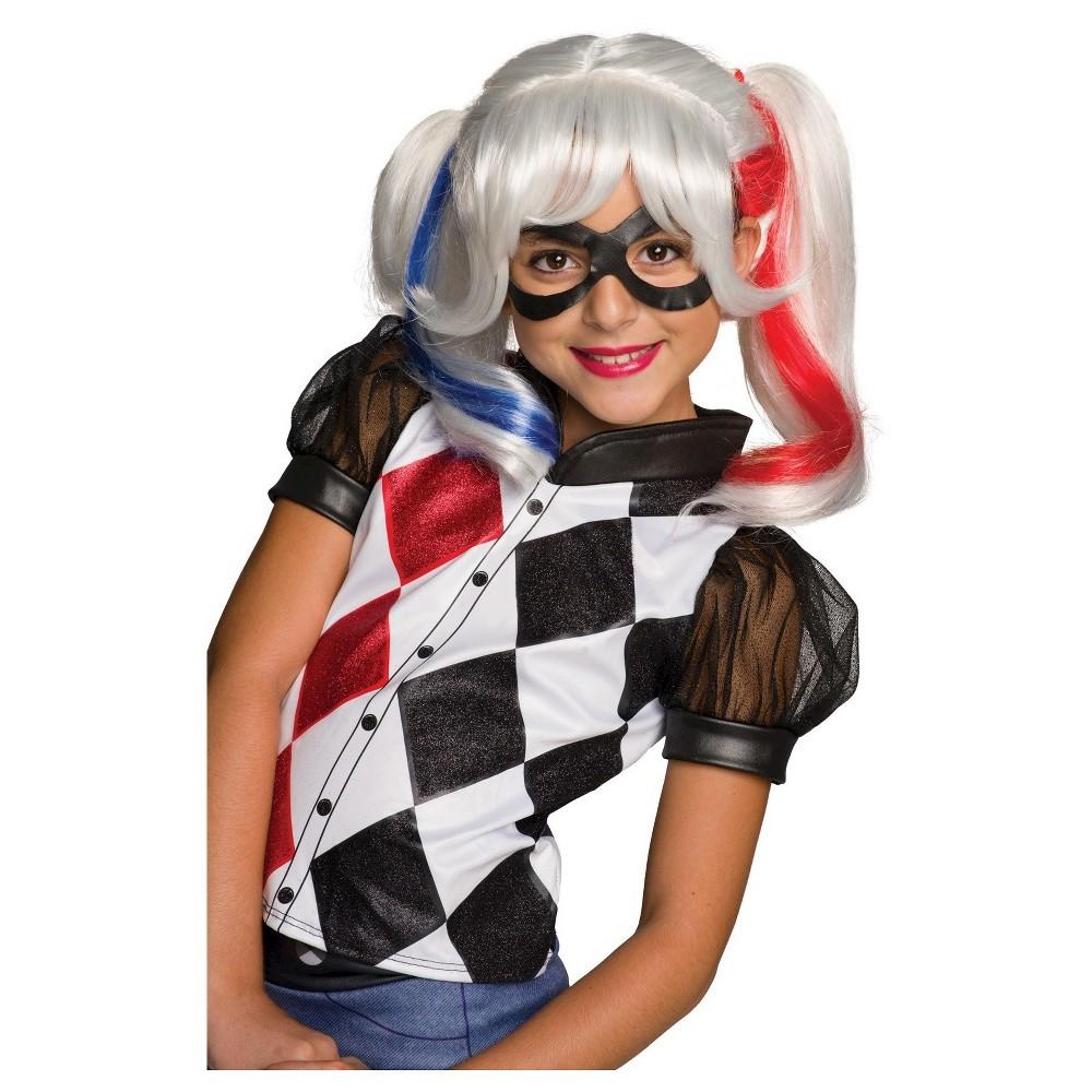 DC Superhero Girls' Harley Quinn Wig - One Size