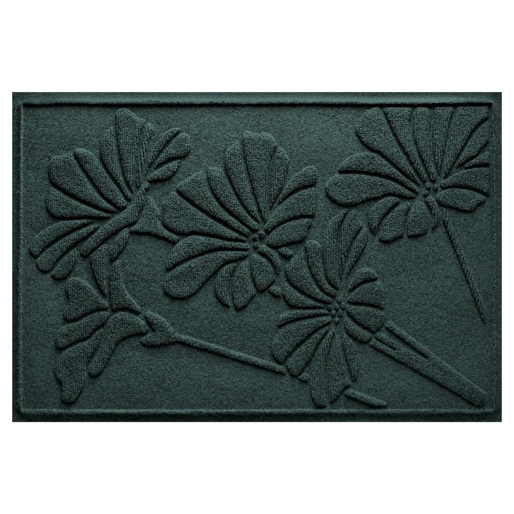 Evergreen (Green) Botanical Doormat - (2'X3') - Bungalow Flooring