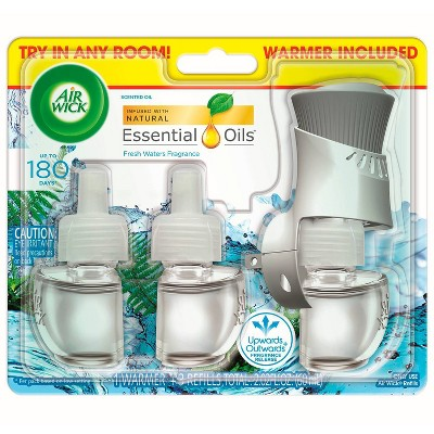 Air Wick Scented Oil Starter Kit - Fresh Waters - 5pk/3.35 fl oz