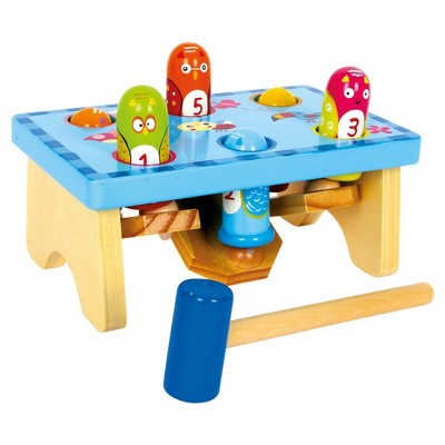 Small Foot Wooden Toys Smack the Bird Knock Playset with Hammer