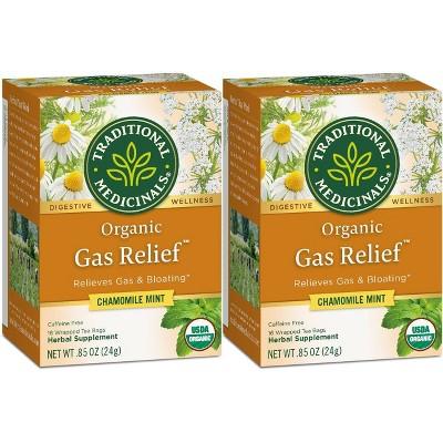 Tea Bags: Traditional Medicinals Gas Relief Tea Bags