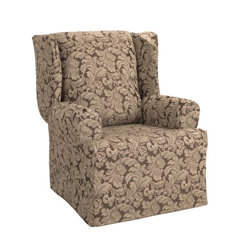 Sensational Scroll Wing Chair Slipcover Sure Fit Ibusinesslaw Wood Chair Design Ideas Ibusinesslaworg