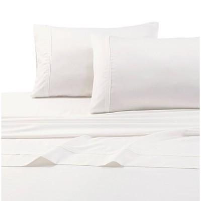 Queen 500 Thread Count 6pc Extra Deep Pocket Sateen Sheet Set Ivory - Tribeca Living