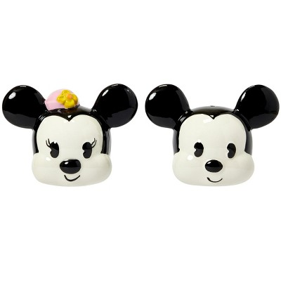 Seven20 Disney Mickey Mouse & Minnie Mouse Salt & Pepper Shaker Set   Ceramic Shakers