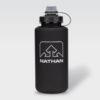 Nathan 32oz Tritan Big Shot Water Bottle - Black