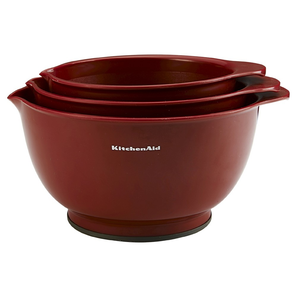KitchenAid Classic Mixing Bowls Red (Set of 3)