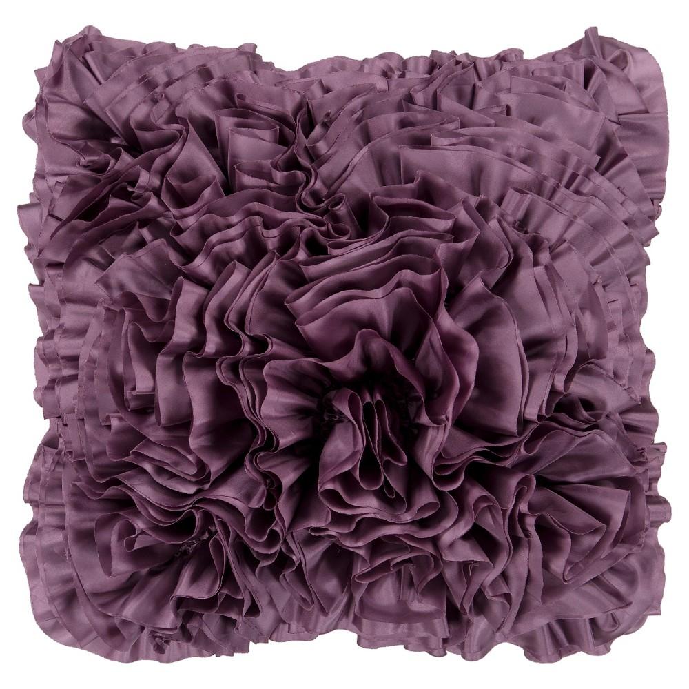 Mauve (Pink) Ruffles Throw Pillow 18