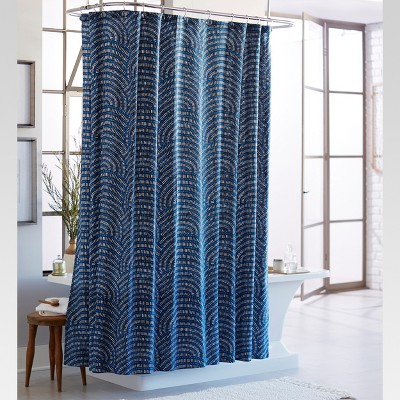 Block Shower Curtain Blue/White   Threshold™ : Target