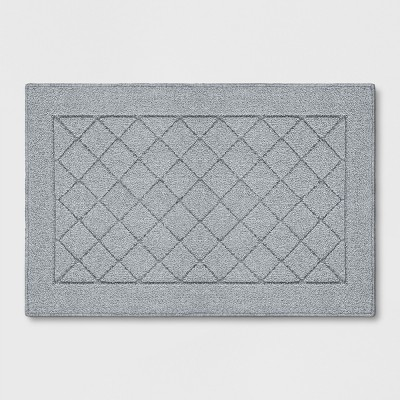 Gray Diamond Tufted and Hooked Washable Accent Rug 1'8 X2'6 /20 X30  - Threshold™