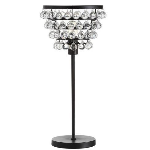 "25"" Buckingham Crystal/Metal Table Lamp - JONATHAN Y - image 1 of 4"