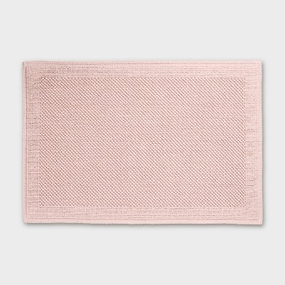 30 x21  Performance Textured Bath Mat Blush Pink - Threshold™