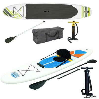 Bestway Inflatable Hydro Force Wave Edge Stand Up Paddle Board (Green, White)