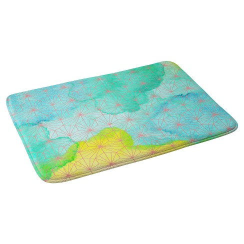 Geometric Bath Mat Blue - Deny Designs - image 1 of 4