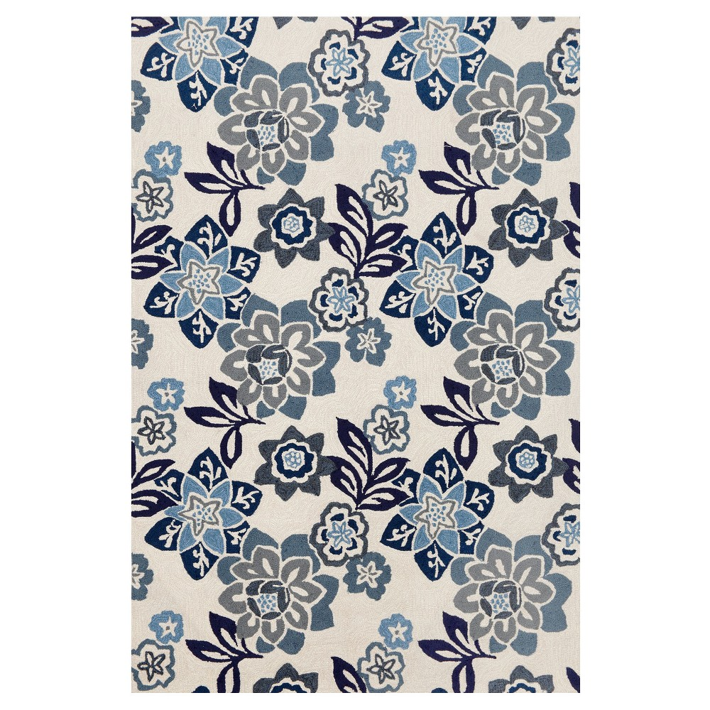 White Floral Tufted Area Rug 8'3