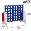 ECR4Kids Jumbo Four-To-Score Giant Game-Indoor/Outdoor 4-In-A-Row Connect - Red, White and Blue - image 2 of 4