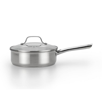 """T-Fal 10"""" Stainless Steel Fry Pan with Lid"""