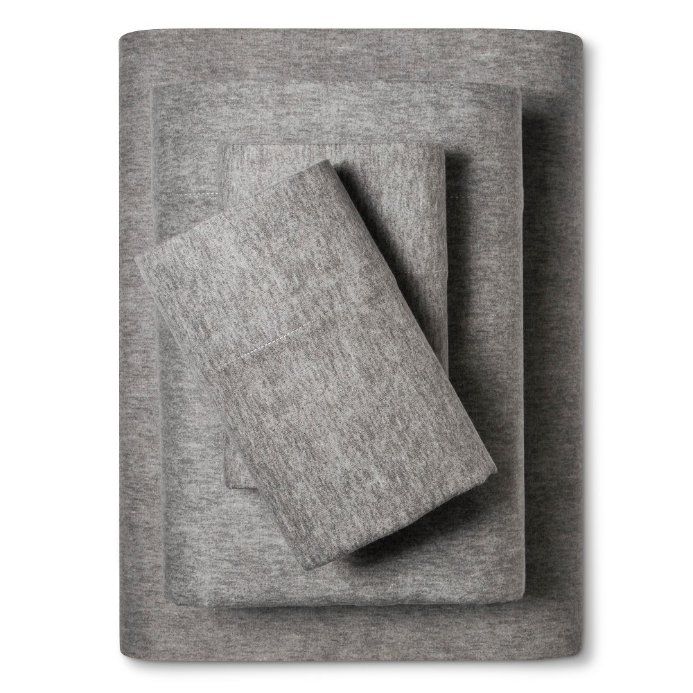 Flannel Sheet Set (Queen) Heathered Earth Gray - Evergreen