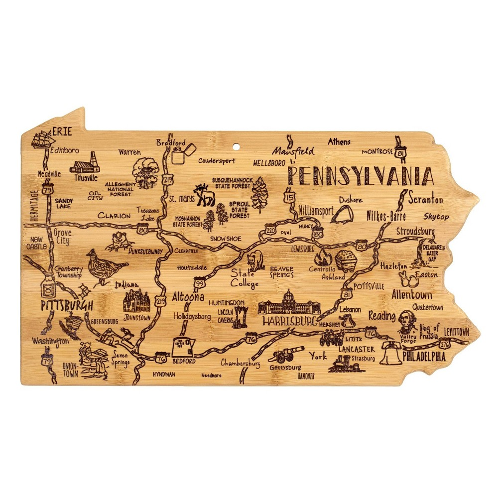 Discounts Totally Bamboo Destination Pennsylvania Serving and Cutting Board