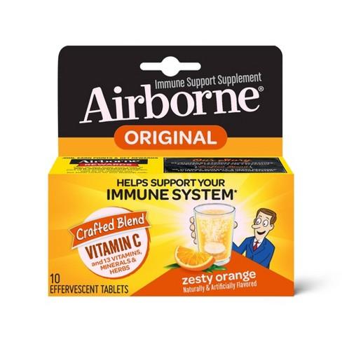 Airborne Immune Support Supplement Dissolving Tablets - Zesty Orange - image 1 of 4
