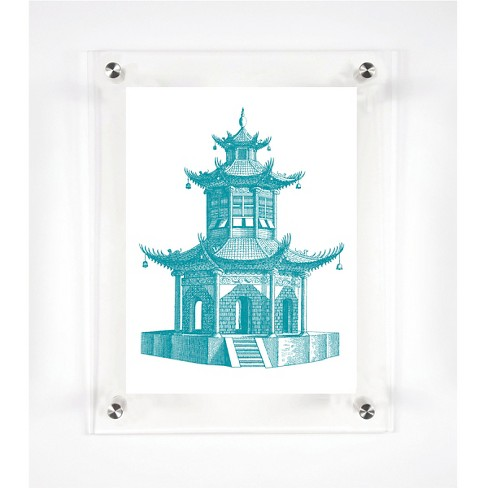 Mitchell Black - Pagoda Decorative Framed Wall Canvas - image 1 of 1